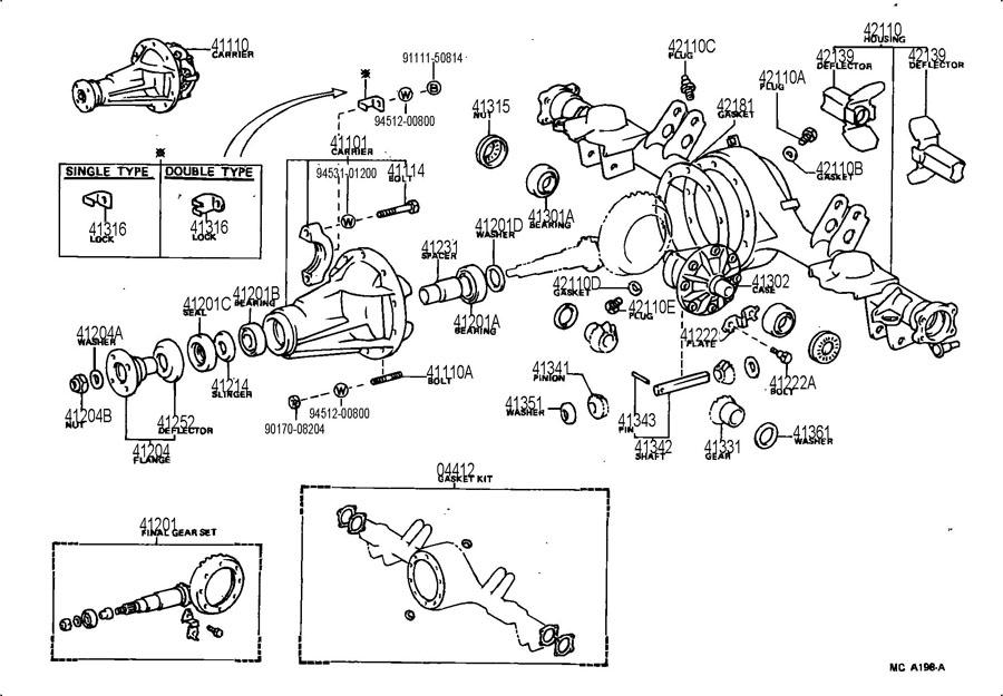 1991 toyota previa parts catalog