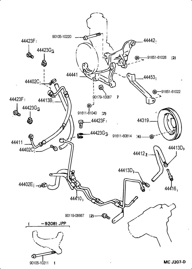 Toyota 4runner Hose  Pressure Feed
