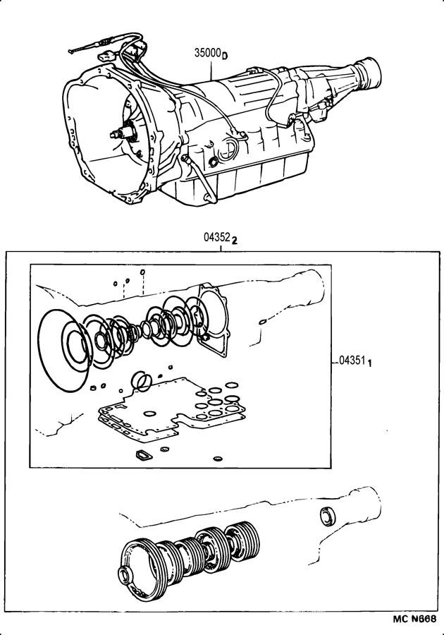 toyota 4runner kit  automatic transmission overhaul