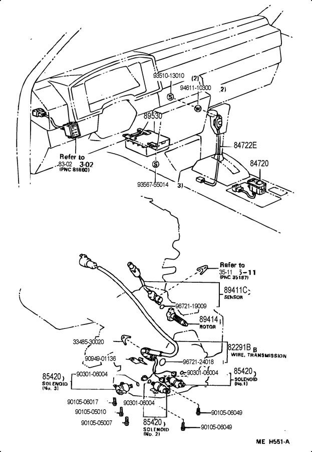 8212517020 - TOYOTA Wire, to solenoid (for transmission ...