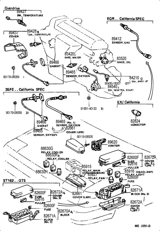 1989 toyota celica fuse block  toyota  auto wiring diagram