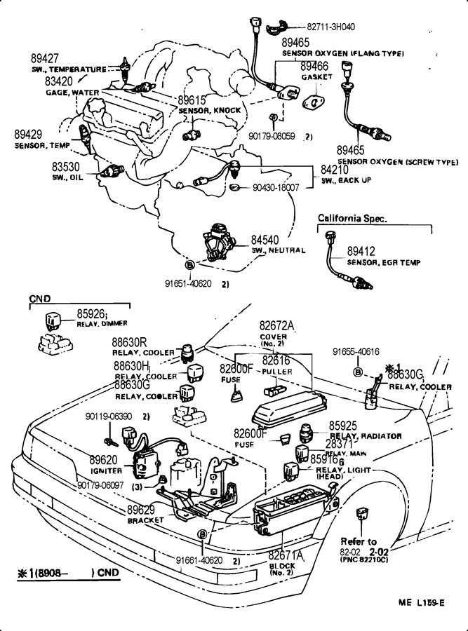 1991 toyota camry radiator fan switch