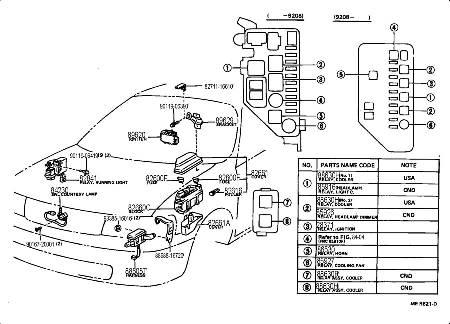 1989 toyota pickup fuse panel diagram  toyota  auto fuse