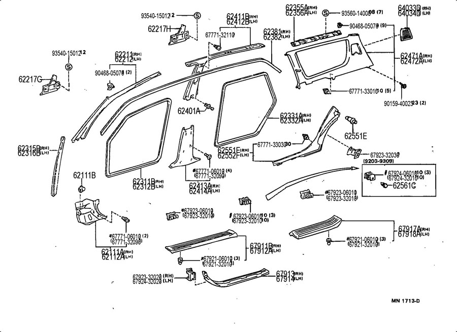 Oem toyota camry parts