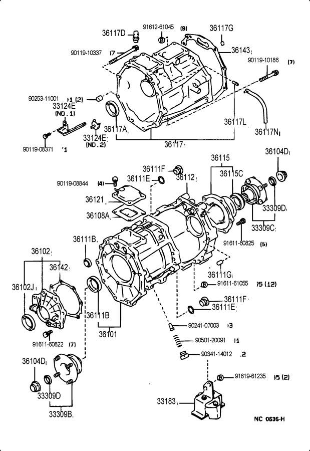Toyota 4runner Transfer Case Extension Housing Seal