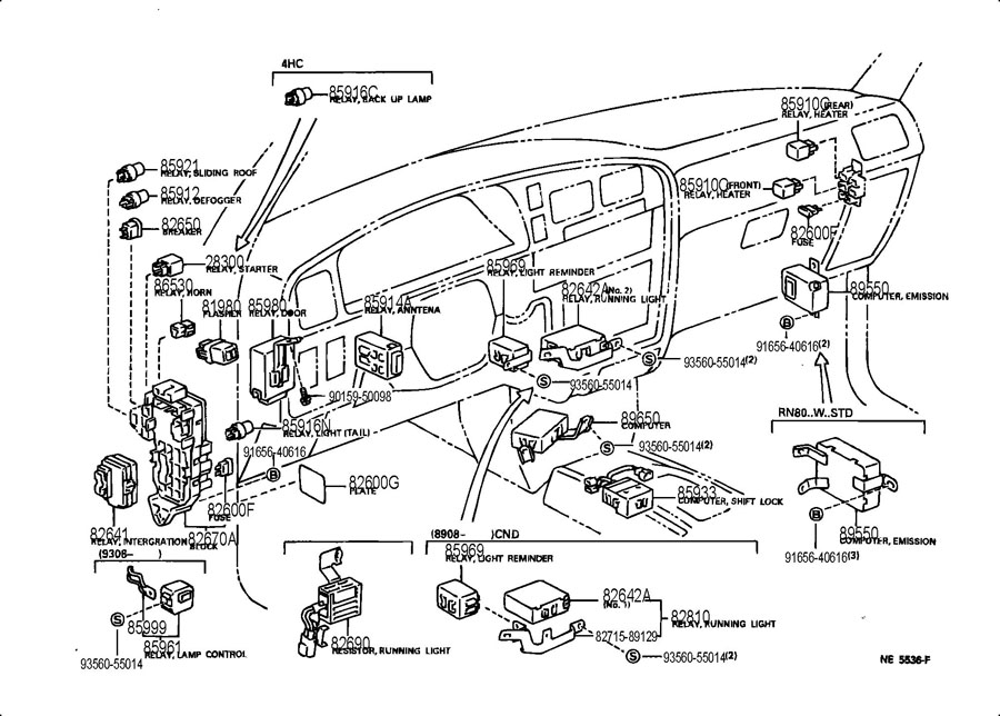 Toyota Window Relay Location on 1999 toyota avalon radio wiring diagram